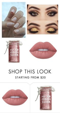 """""""Makeup New Years"""" by flower-xox ❤ liked on Polyvore featuring Lime Crime and Major Moonshine"""