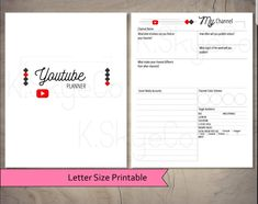 Kikki K Planner, Planner Pages, Printable Planner, Printables, Planner Ideas, Calendar Pages, You Youtube, Cover Pages, Letter Size