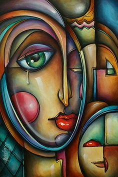 Look Two Painting by Michael Lang