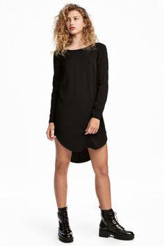 Vestido corto de viscosa - Negro - MUJER   H&M ES
