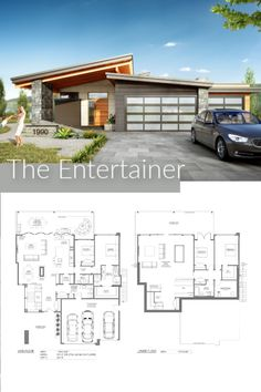The Entertainer Main Floor Area: 1892 sqft Lower Floor Area: 1878 sqft Width: including cantilever) Depth: Garage: 3 Storeys: 1 Storey with Walk-Out Basement _________________________________________ Basement House Plans, Walkout Basement, New House Plans, Basement Ideas, Modern Floor Plans, Contemporary House Plans, Big Modern Houses, Rustic Lake Houses, 2 Storey House