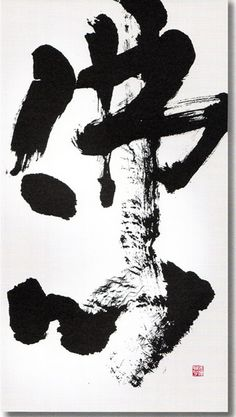 Japanese characters are so elegant! Calligraphy by KANAZAWA Shoko, Japan 金澤翔子