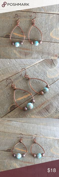 Copper Imperial Jasper Earrings I designed and made these earrings with genuine Imperial Jasper gemstones, non-tarnish copper wire and antique bronze beads. Please Note: The use of gemstones is not meant as a substitute for medical or psychological diagno Jewelry Closet, Bronze Jewelry, Jasper Gemstone, Fashion Tips, Fashion Design, Fashion Trends, Women's Fashion, Copper Wire, Latest Fashion For Women