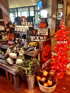 The hospital gift shop has a Spooktacular display of Halloween items