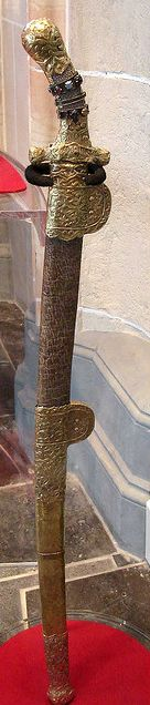 Sabre of Charlemagne, Holy Roman Empire (late 9th c.). Made in Eastern Europe.