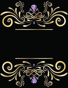 Luxury card or invitation vector art illustration to czarne ze vintage gold vector frame vector art illustration stopboris Gallery