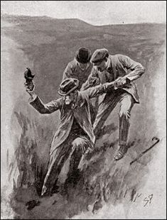 The Hound of the Baskervilles  Chapter XIV The Hound of the Baskervilles SIDNEY PAGET The Strand Magazine, April 1902 'HE HELD AN OLD BLACK BOOT IN THE AIR.'
