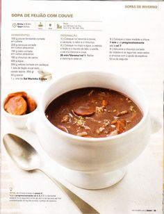 Revista bimby pt-s02-0036 - novembro 2013 Wine Recipes, Soup Recipes, Healthy Recipes, Good Food, Yummy Food, Tasty, Cooking Classes, Cooking Tips, Clean Eating