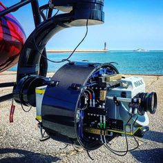 Christopher Nolan using an IMAX camera on a helicopter for Dunkirk.