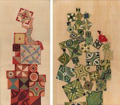 http://cintapinta.com/en/item/145/Gravities.-Small-paintings.-2011/
