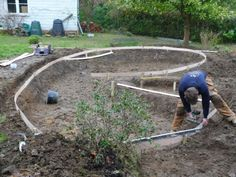 How to build fish ponds with concrete cement ducks and for Concrete pond construction