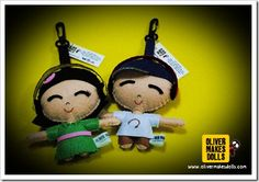 ~ music-thumpin' plush pairs from Oliver Makes Dolls ~