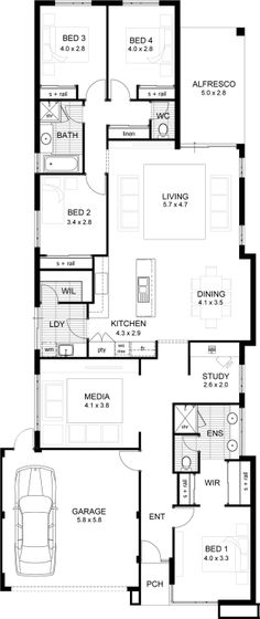Webb & Brown-Neaves is an award winning Luxury Home Builder in Perth & WA. View our Custom Two Storey Homes Designs, find Display Homes & more. Unique House Plans, Luxury House Plans, Best House Plans, Dream House Plans, House Floor Plans, Craftsman Floor Plans, 4 Bedroom House Plans, Storey Homes, House Blueprints