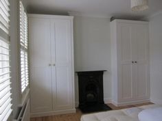 built in wardrobes victorian house Alcove Wardrobe, Victorian Rooms, Bedroom Fireplace, House, Bedroom Built In Wardrobe, Bedroom Alcove, Bedroom Design, Home Bedroom, Alcove Cabinets