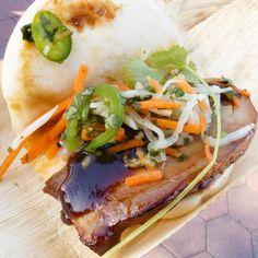 Disney's Pork Belly Bao taco with pickled Veges is a must at the #DisneyCaliforniaAdventure #foodandwinefestival #bao #porkbelly #dca #disneyland #apdays #disneyeats by linaloschamera