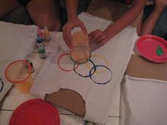 Gifts for coffee lovers [creative and inexpensive] DIY OLYMPICS SHIRT-Creative Party Ideas by Cheryl: Olympic Opening Ceremony Party and Olympic T-Shirt Tutorial Olympic Games For Kids, Winter Olympic Games, Winter Olympics, Special Olympics, Kids Olympics, Olympic Crafts, Creative Party Ideas, Creative Gifts, T Shirt Tutorial