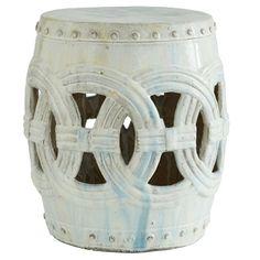 Indian Rings Stool - White