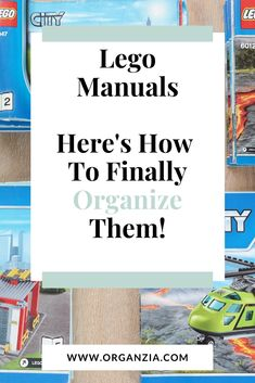 The more lego, the more Lego manuals everywhere! Have a look at how I finally found a way to organize all those Lego instruction manuals! Kids Room Organization, Organization Hacks, Lego Creations Instructions, Lego Room Decor, Declutter Your Mind, Lego Activities, Decluttering Ideas, Kids Storage, Inspiration For Kids
