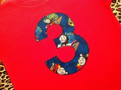 ANY AGE, Thomas the Train Birthday t-shirt, Initial, shirt, bodysuit, boy, first, second, third, 1st, 2nd, 3rd, 4th, 5, onesie, twins on Etsy, $18.75
