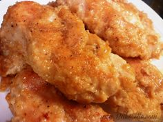 """The best chicken ever!! You won't believe this is baked and not fried! No skin. No frying. Just super moist and flavorful!"