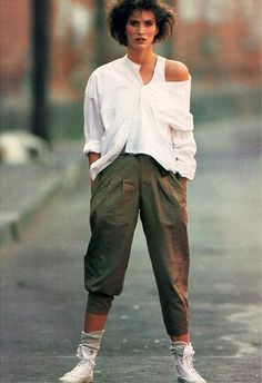 Pegged pants were all the rage in the '80s, as seen in this 1984 Forenza ad printed in Vogue Magazine.