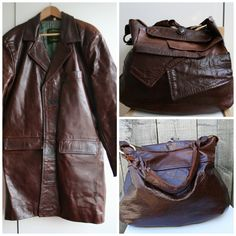 Detailed DIY Tutorial on how to convert an ugly leather coat into a leather bag