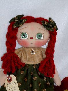 Raggedy Ann Cloth Doll Ellie by Allisbright on Etsy