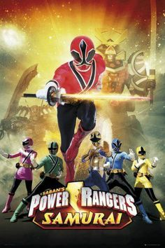 POWER RANGERS SAMURAI - MAXI POSTER - BRAND NEW