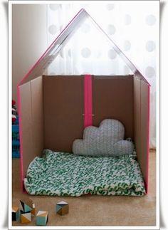 Karton Kutudan Oyuncak Ev Yapımı