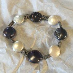 Mother pearl bracelet Mother pearl bracelet with elastic band Jewelry Bracelets