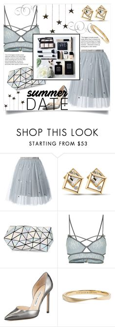 """Smokin' Hot: Summer Date Night"" by katerina1500 ❤ liked on Polyvore featuring Au Jour Le Jour, Bao Bao by Issey Miyake, Topshop, Manolo Blahnik and Kate Spade"
