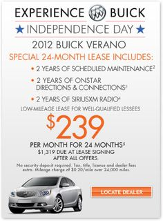 2012 #Buick Verano Independence Day Offers $239