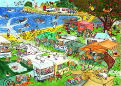 Camping Commotion Puzzle #jigsaw #puzzle #christmas #xmas #gift #grandparent #children #fun #hobby #family #gibsons