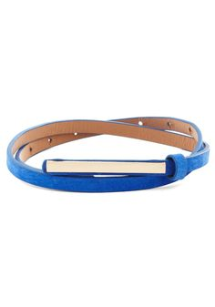 Minimalist Must-have Belt. Even fans of understated fashion love to accessorize a little! #blue #modcloth