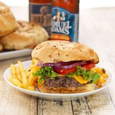 Juicy Pub-Style Burgers {Sweet Pea's KItchen}