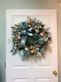 Excited to share the latest addition to my shop: Elegant Christmas Wreath, Christmas Door Wreath, Blue Christmas wreath, Christmas elegant wreat. Blue Christmas Decor, Christmas Door Wreaths, Christmas Door Decorations, Christmas Swags, Christmas Flowers, Christmas Makes, Holiday Wreaths, Christmas Holidays, Elegant Christmas Decor