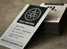 Oh So Beautiful Paper: Business Card Ideas and Inspiration #11