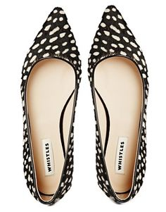 Image 3 of Whistles Brigette Spot Flat Pointed Shoes