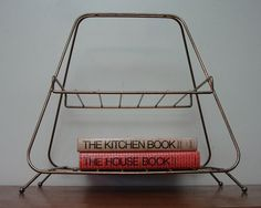 Mid Century Magazine Rack Space Age 1950s 50s Atomic by JBHoffman, $62.00