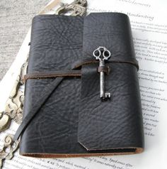 leather bound journals with unique twists/crafty