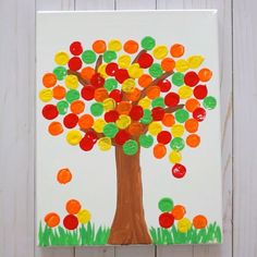Fall Tree Cork Painting Craft for Kids! This is one of my favorite crafts for kids of all time! Such a fun and cute fall painting craft for kids. And can you believe the leaves are painted with corks? Mothers Day Crafts For Kids, Easy Crafts For Kids, Toddler Crafts, Art For Kids, Harvest Crafts For Kids, Button Crafts For Kids, Fall Crafts, Arts And Crafts, Paper Crafts