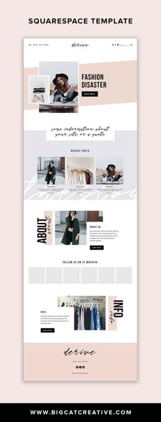 Squarespace Website Template Kit: DERIVE Create your gorgeous new website with our easy to Design Web, Layout Design, Design Sites, Web Design Tutorial, Web Design Quotes, Website Design Layout, Web Design Trends, Web Layout, Page Design