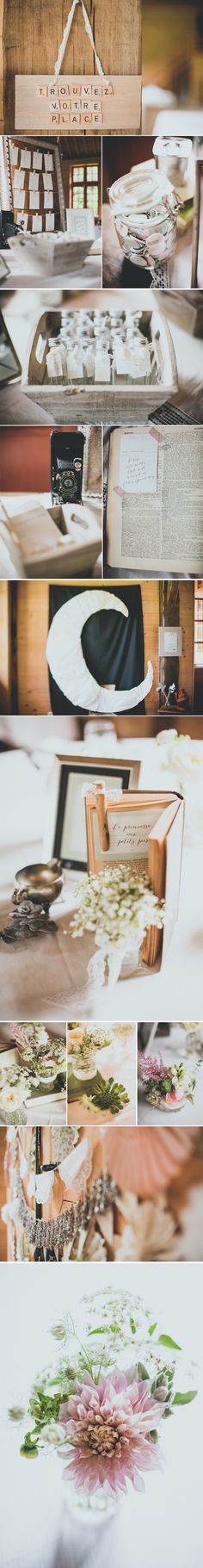 Some inspiration for your vintage wedding. Signs, letters, gold, vases, flowers.... Loved by we.artanna.be