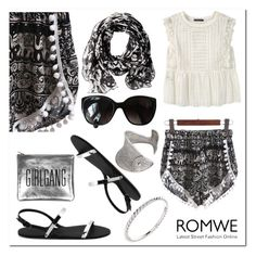 """""""romwe"""" by ilona-828 ❤ liked on Polyvore featuring Violeta by Mango, Calvin Klein, Chanel, Wish by Amanda Rose, StreetStyle, Summer and romwe"""