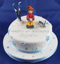 Cute skiier cake