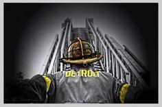 Detroit Fire Photo Art by Matt Fernandez | Shared by LION