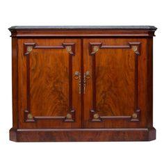19th Century English Regency Two-Door Cabinet | 1stdibs.com
