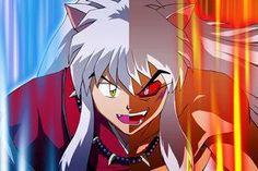 Inuyasha half demon x full demon Inuyasha Fan Art, Inuyasha And Sesshomaru, Kagome And Inuyasha, Miroku, Kagome Higurashi, Awesome Anime, Anime Love, Anime Comedia, Seshomaru Y Rin