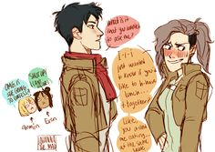genderbent Jean x MIKASA honestly I would do my hair like fem jean in this