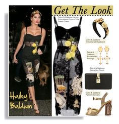 """""""Get The Look: Hailey Baldwin"""" by hamaly ❤ liked on Polyvore featuring Dolce&Gabbana"""